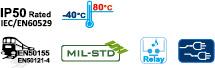 DINレール取付対応スイッチングハブの機能アイコン